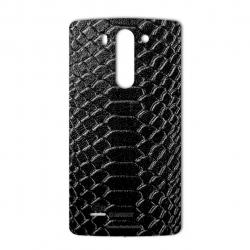برچسب تزئینی ماهوت مدل Snake Leather مناسب برای گوشی  LG G3 Beat (مشکی)