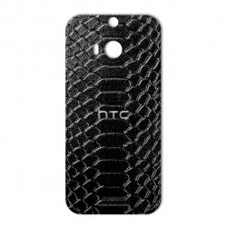 برچسب تزئینی ماهوت مدل Snake Leather مناسب برای گوشی  HTC M8 (قهوه ای)