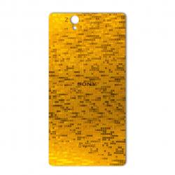برچسب تزئینی ماهوت مدل  Gold-pixel Special مناسب برای گوشی Sony Xperia Z (بی رنگ)