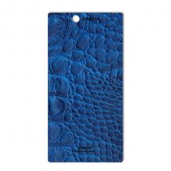 برچسب تزئینی ماهوت مدل Crocodile Leather مناسب برای گوشی  Sony Xperia Z Ultra (آبی)