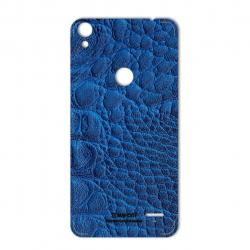 برچسب تزئینی ماهوت مدل Crocodile Leather مناسب برای گوشی  Tecno WX4 Pro (مشکی)