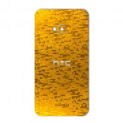 برچسب تزئینی ماهوت مدل  Gold-pixel Special مناسب برای گوشی HTC M7 (بی رنگ)