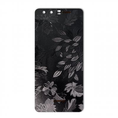 برچسب تزئینی ماهوت مدل Wild-flower Texture مناسب برای گوشی  Huawei P10 Plus (مشکی)