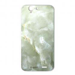 برچسب تزئینی ماهوت مدل Marble-light Special مناسب برای گوشی  Huawei Ascend G7 (کرم)