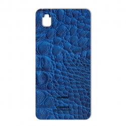 برچسب تزئینی ماهوت مدل Crocodile Leather مناسب برای گوشی  Huawei Honor 7i-Shot X (آبی)
