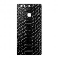 برچسب تزئینی ماهوت مدل Snake Leather مناسب برای گوشی  Huawei P9 Plus (قهوه ای)