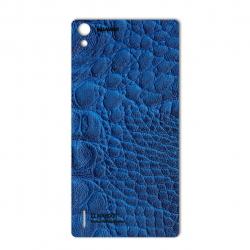 برچسب تزئینی ماهوت مدل Crocodile Leather مناسب برای گوشی  Huawei Ascend P7 (مشکی)
