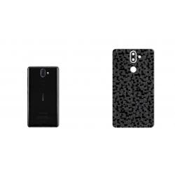 برچسب تزئینی ماهوت مدل Silicon Texture مناسب برای گوشی  Nokia 8Sirocco (نقره ای)
