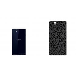 برچسب تزئینی ماهوت مدل Silicon Texture مناسب برای گوشی  Sony Xperia Z (مشکی)