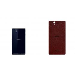 برچسب تزئینی ماهوت مدلNatural Leather مناسب برای گوشی  Sony Xperia Z (قهوه ای تیره)