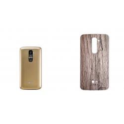 برچسب تزئینی ماهوت مدل Walnut Texture مناسب برای گوشی  LG G2 (بی رنگ)