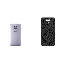 برچسب تزئینی ماهوت مدل Silicon Texture مناسب برای گوشی  LG X Cam (نقره ای)