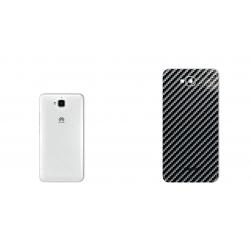 برچسب تزئینی ماهوت مدل Shine-carbon Special مناسب برای گوشی  Huawei Y6 Pro (قهوه ای)