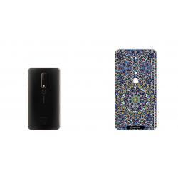 برچسب تزئینی ماهوت مدل Imam Reza shrine-tile Design مناسب برای گوشی  Nokia 6/1