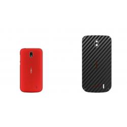 برچسب تزئینی ماهوت مدل Carbon-fiber Texture مناسب برای گوشی  Nokia 1 (سفید)