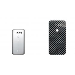برچسب تزئینی ماهوت مدل Shine-carbon Special مناسب برای گوشی  LG V30 (نقره ای)