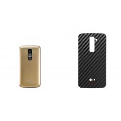 برچسب تزئینی ماهوت مدل Carbon-fiber Texture مناسب برای گوشی  LG G2 (طلایی)