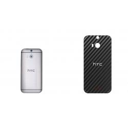 برچسب تزئینی ماهوت مدل Carbon-fiber Texture مناسب برای گوشی  HTC M8 (مشکی)