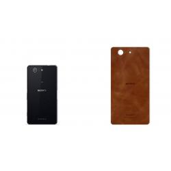 برچسب تزئینی ماهوت مدل Buffalo Leather مناسب برای گوشی Sony Xperia Z3 Compact (بی رنگ)