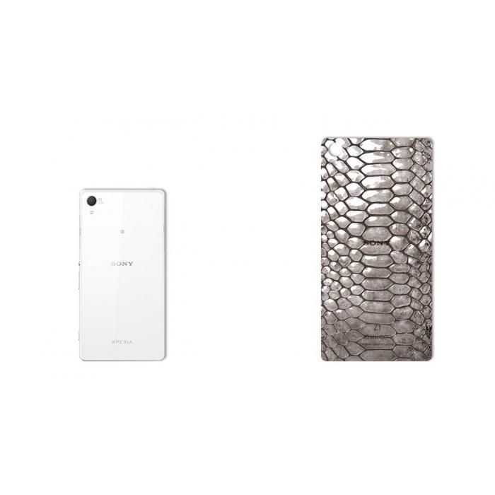 برچسب تزئینی ماهوت مدل Cobra-belly Leather مناسب برای گوشی  Sony Xperia Z1 (بی رنگ)