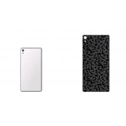 برچسب تزئینی ماهوت مدل Silicon Texture مناسب برای گوشی  Sony Xperia XA Ultra (مشکی)