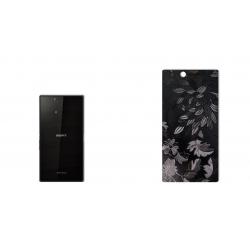 برچسب تزئینی ماهوت مدل Wild-flower Texture مناسب برای گوشی  Sony Xperia Z Ultra (مشکی)