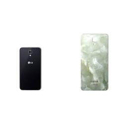 برچسب تزئینی ماهوت مدل Marble-light Special مناسب برای گوشی  LG X Screen (کرم)