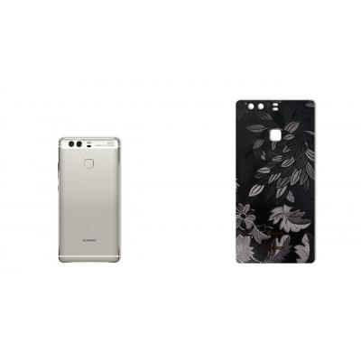 برچسب تزئینی ماهوت مدل Wild-flower Texture مناسب برای گوشی  Huawei P9 Plus (مشکی)