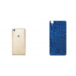 برچسب تزئینی ماهوت مدل Crocodile Leather مناسب برای گوشی  Huawei Y6 II (آبی)