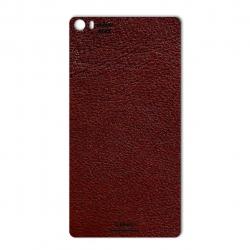 برچسب تزئینی ماهوت مدلNatural Leather مناسب برای گوشی  Huawei P8max (قرمز)