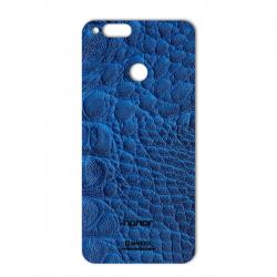 برچسب تزئینی ماهوت مدل Crocodile Leather مناسب برای گوشی  Huawei Honor 7X (آبی)