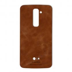 برچسب تزئینی ماهوت مدل Buffalo Leather مناسب برای گوشی LG G2 (بی رنگ)