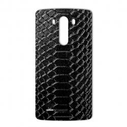 برچسب تزئینی ماهوت مدل Snake Leather مناسب برای گوشی  LG G3 (مشکی)