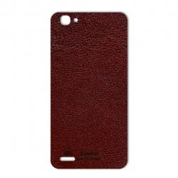 برچسب تزئینی ماهوت مدلNatural Leather مناسب برای گوشی  Huawei GR3 (سرمه ای)