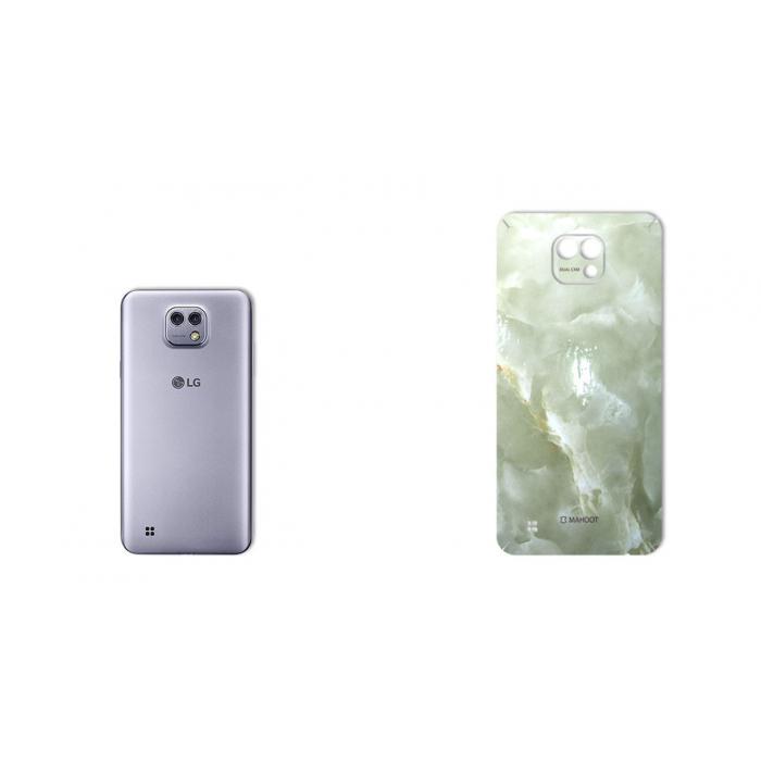 برچسب تزئینی ماهوت مدل Marble-light Special مناسب برای گوشی  LG X Cam (کرم)