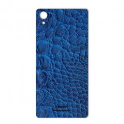 برچسب تزئینی ماهوت مدل Crocodile Leather مناسب برای گوشی  Sony Xperia X (آبی)