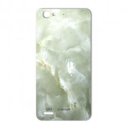 برچسب تزئینی ماهوت مدل Marble-light Special مناسب برای گوشی  Huawei GR3 (سبز روشن)