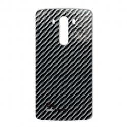 برچسب تزئینی ماهوت مدل Shine-carbon Special مناسب برای گوشی  LG G3 (نقره ای)