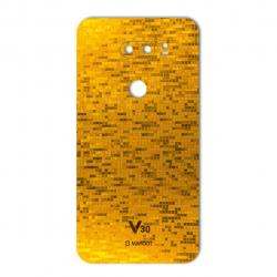 برچسب تزئینی ماهوت مدل  Gold-pixel Special مناسب برای گوشی LG V30