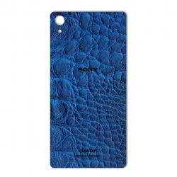 برچسب تزئینی ماهوت مدل Crocodile Leather مناسب برای گوشی  Sony Xperia Z2 (آبی)