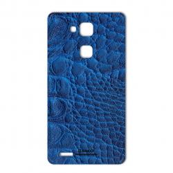 برچسب تزئینی ماهوت مدل Crocodile Leather مناسب برای گوشی  Huawei Mate 7 (سبز)