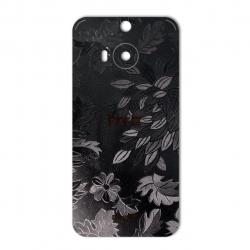 برچسب تزئینی ماهوت مدل Wild-flower Texture مناسب برای گوشی  HTC M9 Plus (مشکی)
