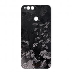 برچسب تزئینی ماهوت مدل Wild-flower Texture مناسب برای گوشی  Huawei Honor 7X (مشکی)