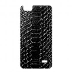 برچسب تزئینی ماهوت مدل Snake Leather مناسب برای گوشی  Huawei Honor 4c (مشکی)