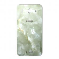 برچسب تزئینی ماهوت مدل Marble-light Special مناسب برای گوشی  Huawei G510 (سبز روشن)