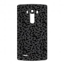 برچسب تزئینی ماهوت مدل Silicon Texture مناسب برای گوشی  LG G4 (نقره ای)