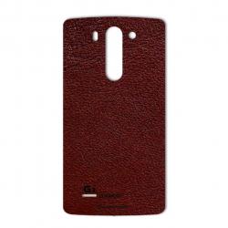 برچسب تزئینی ماهوت مدلNatural Leather مناسب برای گوشی  LG G3 Beat (قرمز)