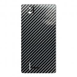 برچسب تزئینی ماهوت مدل Shine-carbon Special مناسب برای گوشی  Huawei Ascend P2 (قهوه ای)