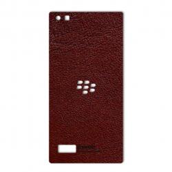 برچسب تزئینی ماهوت مدلNatural Leather مناسب برای گوشی  BlackBerry Leap (کرم)