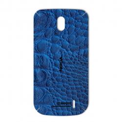 برچسب تزئینی ماهوت مدل Crocodile Leather مناسب برای گوشی  Nokia 1 (آبی)